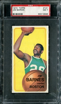 1970/71 Topps Basketball #121 Jim Barnes PSA 7 (NM) *3596