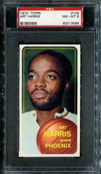 1970/71 Topps Basketball #149 Art Harris PSA 8 (NM-MT) *3599