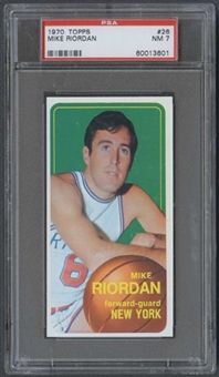 1970/71 Topps Basketball #26 Mike Riordan PSA 7 (NM) *3601