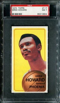 1970/71 Topps Basketball #117 Greg Howard PSA 7 (NM) *3604