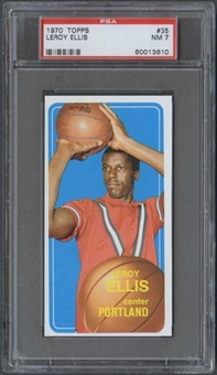 1970/71 Topps Basketball #35 Leroy Ellis PSA 7 (NM) *3610