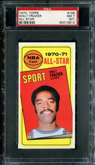 1970/71 Topps Basketball #106 Walt Frazier All Star PSA 7 (NM) (ST) *3612