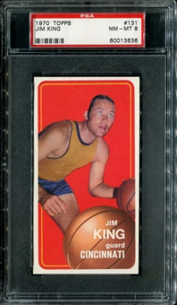 1970/71 Topps Basketball #131 Jim King PSA 8 (NM-MT) *3636