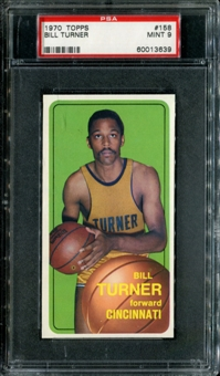 1970/71 Topps Basketball #158 Bill Turner PSA 9 (MINT) *3639