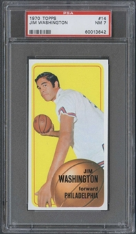 1970/71 Topps Basketball #14 Jim Washington PSA 7 (NM) *3642