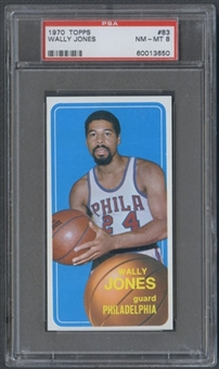 1970/71 Topps Basketball #83 Wally Jones PSA 8 (NM-MT) *3650