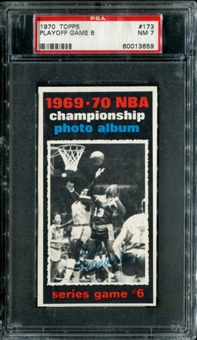 1970/71 Topps Basketball #173 Playoff Game 6 - Wilt Chamberlain PSA 7 (NM) *3659