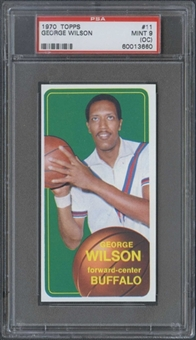 1970/71 Topps Basketball #11 George Wilson PSA 9 (MINT) (OC) *3660