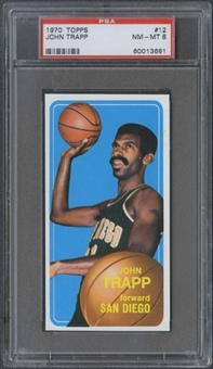 1970/71 Topps Basketball #12 John Trapp PSA 8 (NM-MT) *3661