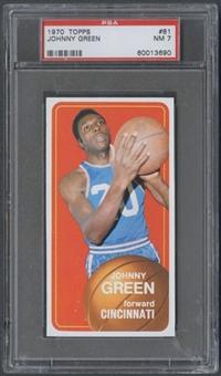 1970/71 Topps Basketball #81 Johnny Green PSA 7 (NM) *3690