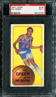 1970/71 Topps Basketball #155 Hal Greer PSA 7 (NM) *3700