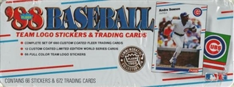 1988 Fleer Glossy Baseball Factory Set