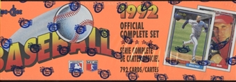 1992 O-Pee-Chee Baseball Factory Set