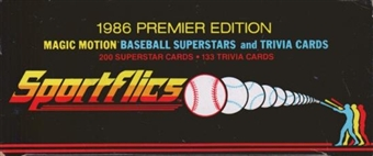 1986 Sportflics Baseball Factory Set