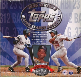 1996 Topps Series 2 Baseball Cello Box