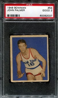 1948/49 Bowman Basketball #54 John Palmer PSA 2 (GOOD) *2037