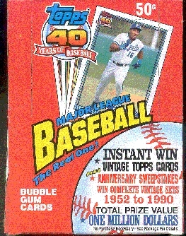 1991 Topps Baseball Wax Box