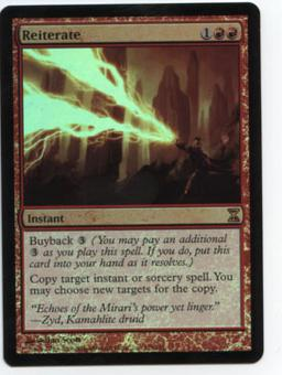Magic the Gathering Time Spiral Single Reiterate FOIL - MODERATE PLAY (MP)