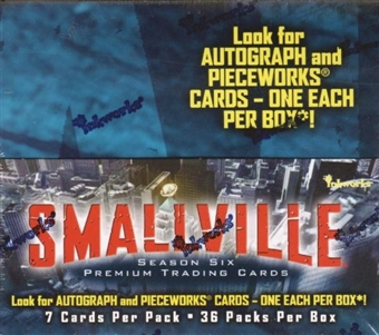 Smallville Season 6 Trading Cards Box (2008 InkWorks)