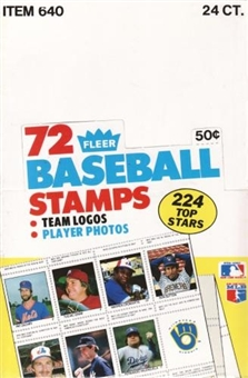 1983 Fleer Stamps Baseball Wax Box