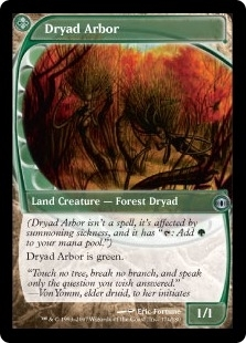 Magic the Gathering Future Sight Single Dryad Arbor FOIL SLIGHT PLAY (SP)