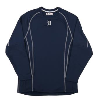 Detroit Tigers Majestic Navy Performance On Field Practice Fleece Pullover (Adult Small)