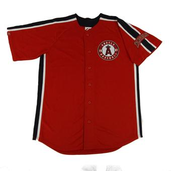 Los Angeles Angels Majestic Red Crosstown Rivalry Jersey (Adult M)