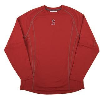 Los Angeles Angels Majestic Red Performance On Field Practice Fleece Pullover (Adult Medium)