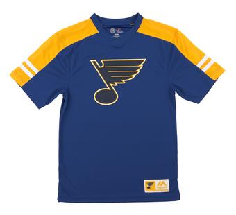 St. Louis Blues Majestic Quick Play Blue Performance Tee Shirt