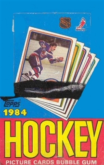 1984/85 Topps Hockey Wax Box