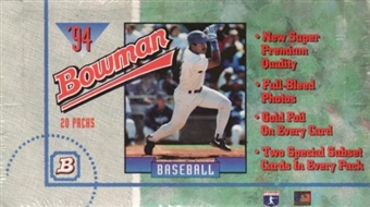 1994 Bowman Baseball Jumbo Box