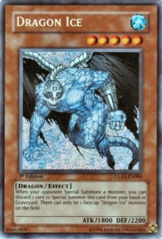 Yu-Gi-Oh Gladiator's Assault Single Dragon Ice Secret Rare (GLAS-EN084)