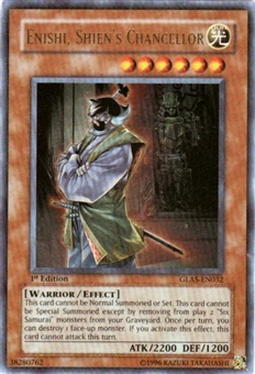 Yu-Gi-Oh Gladiator's Assault Single Enishi Shiens Chancellor Ultra Rare