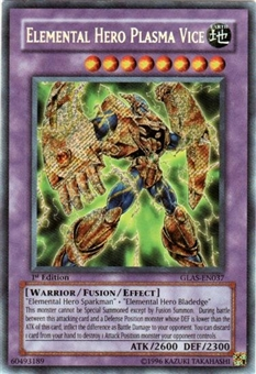 Yu-Gi-Oh Gladiator's Assault Single Elemental Hero Plasma Vice Secret Rare