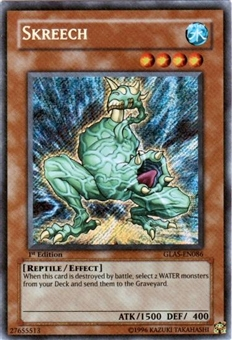 Yu-Gi-Oh Gladiator's Assault Single Skreech Secret Rare (GLAS-EN086)