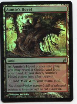 Magic the Gathering Lorwyn Single Auntie's Hovel Foil - MODERATE PLAY (MP)