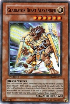 Yu-Gi-Oh Gladiator's Assault Single Gladiator Beast Alexander Super Rare