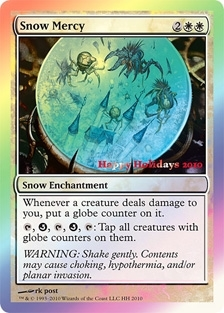 Magic the Gathering Promo Single Snow Mercy - 2010 Holiday Foil - SLIGHT PLAY (SP)