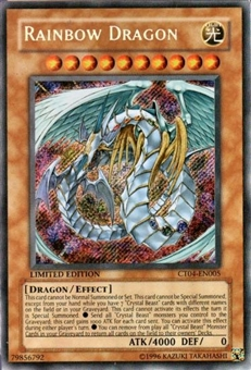 Yu-Gi-Oh Limited Edition Tin Single Rainbow Dragon Secret Rare (CT04-EN005)