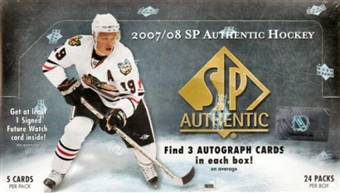 2007/08 Upper Deck SP Authentic Hockey Hobby Box
