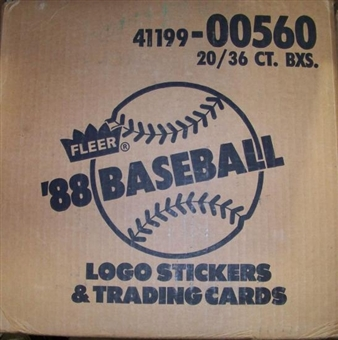 1988 Fleer Baseball Wax 20-Box Case