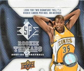 2007/08 Upper Deck SP Rookie Threads Basketball Hobby Box
