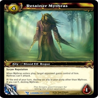 WoW March of the Legion Singles 4x Retainer Mythras (MoL-241) NM/MT