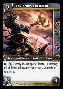 WoW March of the Legion Single The Bringer of Death (MoL-277) NM/MT