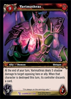 WoW March of the Legion Single Varimathras (MoL-207) NM/MT