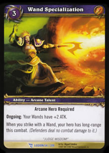 WoW March of the Legion Singles 4x Wand Specialization (MoL-54) NM/MT