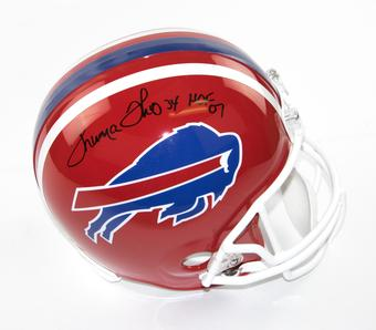 Thurman Thomas Autographed Buffalo Bills Riddell Replica Football Helmet