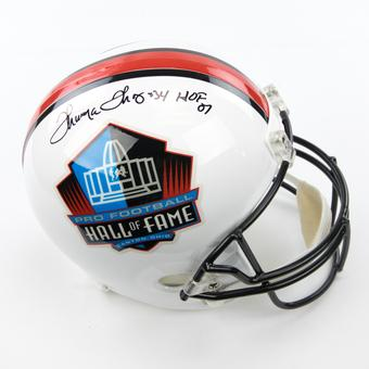 Thurman Thomas Autographed Buffalo Bills Hall of Fame Football Full Size Helmet