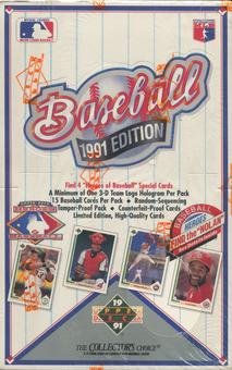 1991 Upper Deck Low # Baseball Wax Box