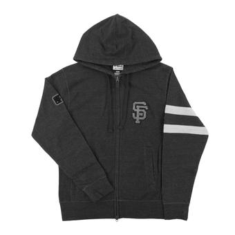 San Francisco Giants Majestic Gray Clubhouse Fleece Full Zip Hoodie (Adult Large)